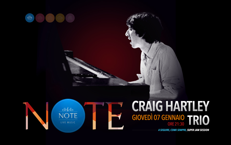 NOTE - Carig Hartley Trio Jazz
