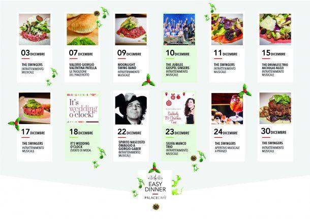 calendario easy dinner dicembre