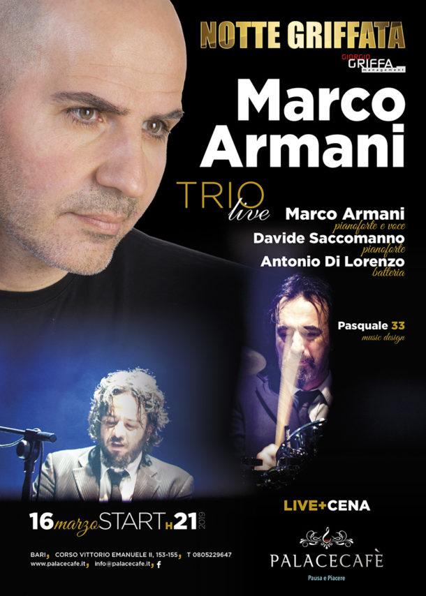 """Cena e Live """"Marco Armani Trio"""""""