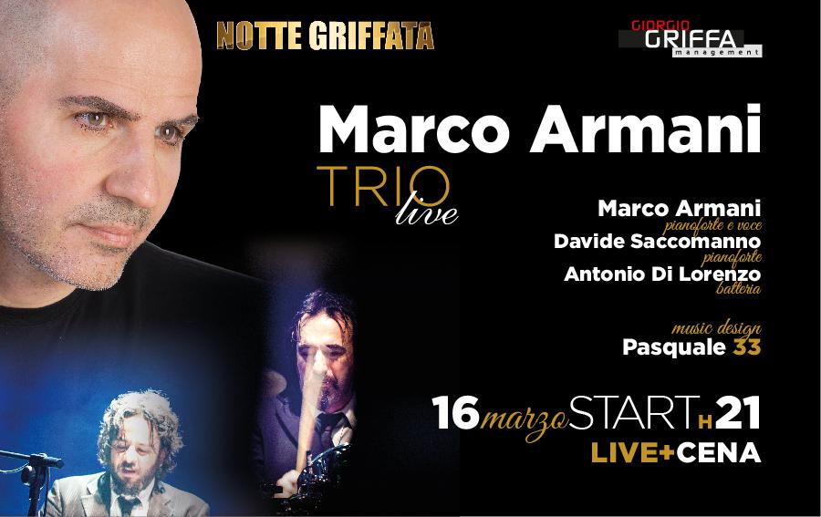 Serata Griffata con Armani Trio