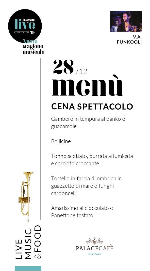 menu palace cafe 28dicembre live